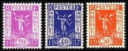 FRANCE 1936 - Yv. 322, 324, 325 *   Cote= 3,50 EUR - Expo Internationale De Paris, 1937 (3 Val.) ..Réf.FRA26775 - Nuovi