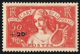 FRANCE 1936 - Yv. 329 **   Cote= 5,50 EUR - Art Et Pensée (surchargé) ..Réf.FRA26806 - Francia