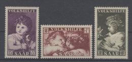 Saar Michel No. 344 - 346 ** postfrisch