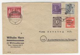 SBZ Handstempel Brief / Bezirk 36 Wittenberg