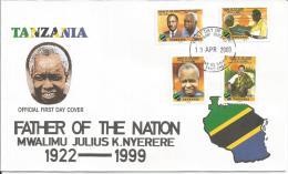 Tanzania Beleg FDC Aus  2000 - Tansania (1964-...)