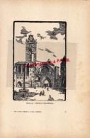 ANDORRE  - GRAVURE CATHEDRALE  PAR JEAN DRUET - 1934- PAUL DUVAL EDITEUR ELBEUF - Prints & Engravings