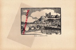 34 - BEZIERS - GRAVURE CATHEDRALE  PAR JEAN DRUET - 1934- PAUL DUVAL EDITEUR ELBEUF - Prints & Engravings
