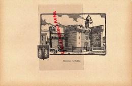 66- PERPIGNAN -LE CASTILLET - GRAVURE CATHEDRALE  PAR JEAN DRUET - 1934- PAUL DUVAL EDITEUR ELBEUF - Prints & Engravings