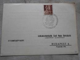 Hungary  - Magyarország Kormányzójának 75.Születésnapjára KOLOZSVÁR 1  1943.VI.18.   -alkalmi Bélyegzés    1943  D129021 - Herdenkingsblaadjes