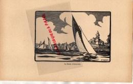 33 - LE BASSIN D' ARCACHON  - GRAVURE   PAR JEAN DRUET - 1934- PAUL DUVAL EDITEUR ELBEUF - Prints & Engravings