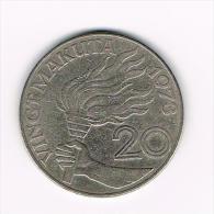 ZAIRE  20  MAKUTA  1973 - Zaïre (1971-97)