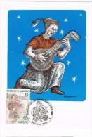 12183. Tarjeta Maxima ANDORRA Española 1986. Tema Europa. Musica - Andorra Española
