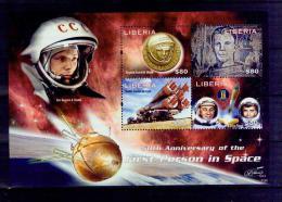 T09 2011 Gagarin 50 Years Liberia Souvenir Sheet MNH - Space