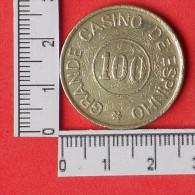 FICHA CASINO - 100 ESCUDOS -  (Nº11437) - Casino