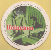Heineken - Heineken Contest 2001 - David Bush, Canada - Ongebruikt - Bierviltjes