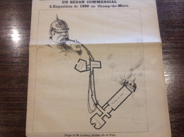 1886 Journal Satirique LA NOUVELLE LUNE / UN SEDAN COMMERCIAL Par COLL TOC - L' EXPOSITION DE 1889 AU CHAMP DE MARS - 1850 - 1899