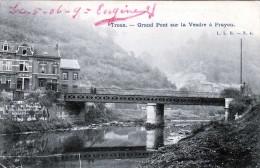 TROOZ - Grand Pont Sur La Vesdre A Prayon, 1906 - Trooz