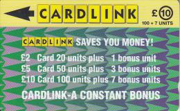 UK(GPT) - Arrowhead Design(CLK006), Cardlink Telecard, First Issue 10 Pounds, CN : 1CLKF, Tirage 7000, Used - Ver. Königreich