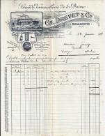 26. DROME. ANDANCETTE. 1917. VERMICELLERIE DREVET ET Cie - Alimentaire