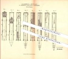 Original Patent -F. Heinrich & Schuster Lendsiedel B. Kirchberg An Der Jagst , 1890 , Bleistifthalter , Schreibwaren !!! - Schreibgerät