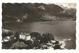 Cp, 74, Lac D'Annecy, La Plage, L'Impérial Palace, Voyagée - Francia