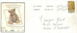 Lettre Avec Le Timbre Autoadhésif  N° 1018 - Covers & Documents