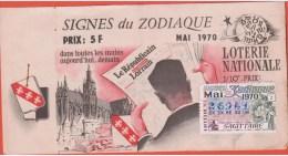 Loterie Nationale 1970 - Spéciale 1/10 - MAI  ZODIAQUE - Lorrain - Sagitaire - Billets De Loterie