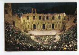 Cp Grèce Greece - Athènes - L´Odeon D´Hérode Atticus Concert De Nuit - Vierge - Grèce