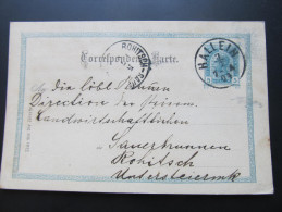 Postkarte GANZSACHE Hallein - Rohitsch 1904 //  D*15613 - 1850-1918 Imperium