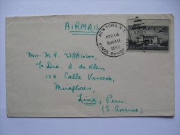 USA 1950 AIR MAIL COVER NEW YORK TO LIMA PERU - United States