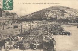ROUEN - 76 -  Le Quai De Paris Et La Cote Sainte Catherine  - VAN - - Rouen