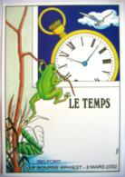 Belfort Le Temps 2002 Jean-Marie Petey Grenouille Montre Gousset - Non Classificati