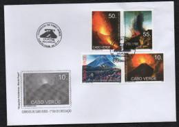 Cabo Verde 2007 - Erupçoes Vulcanicas Da Ilha Do Fogo Vulkan Volcano Vulcan Volcans 4 Val. FDC - Cap Vert