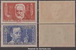50c Et 1F50 De La Série Chômeurs Intellectuels De 1936 Neufs ** Sans Charnières TB ( Y&T N° 332 Et 333, Cote 59€ - France