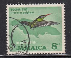 Jamaica Used Scott #224 8p Doctor Bird (hummingbird) - Jamaique (1962-...)