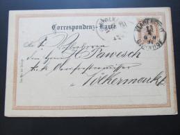 Postkarte GANZSACHE Klagenfurt - Völkermarkt 1891 //  D*15624 - 1850-1918 Imperium