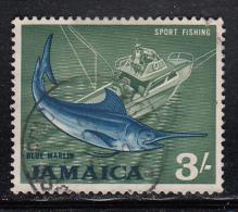 Jamaica Used Scott #229a 3sh Sport Fishing Perf 14 X 14.5 - Jamaique (1962-...)