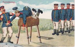 AK Turnübung - Humor - Feldpost - 3. Res. Div. - II. R.J.R. 2 - 1916 (13137) - Humour