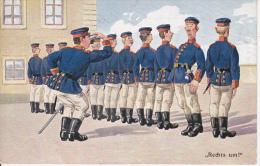 "AK ""Rechts Um!"" - Humor - Patriotika - 1. WK - 1913 (13140) - Humor"