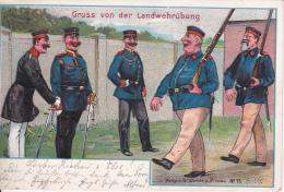 AK Gruss Von Der Landwehrübung - Humor - Patriotika - 1902 (13142) - Humor