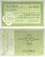 Italia - Italy 100 Lire 1977 (talón) Ref 88 - Italië