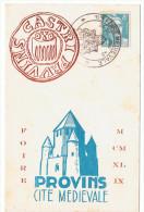 25-26 /-6/1949 - PROVINS - 1ère Foire Médiévale - Cachets Commémoratifs