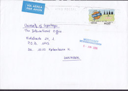 Spain Via Aérea Par Avion Label BARCELONA 2000 Cover Letra To Denmark COPA Del REY Frama / ATM Label - Luftpost