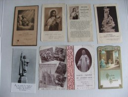Lot De 7 Images  (pieuse  Religieuse Communion) C - Religione & Esoterismo
