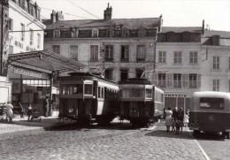 ACACF Tram 027 - Automotrices n� 2 et 3 de la Cr�maill�re de LAON place du Mar�chal Leclerc - LAON - Aisne 02 - CFL