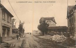 RARE GUIGNICOURT GRANDE RUE ROUTE DE NEUFCHATEL