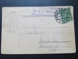 Postkarte FELDPOST BRUCK A.d.Mur - Prag Nusle 1916  //  D*15632 - 1850-1918 Empire