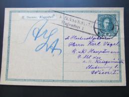 Postkarte FELDPOST Klagenfurt - Wien 1917 //  D*15638 - 1850-1918 Imperium