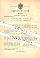 Original Patent - Ferdinand Vahlkampf In St. Ingbert , 1906 , Form Zum Brennen Basischer Bessemerbirnenböden !!! - Saarpfalz-Kreis