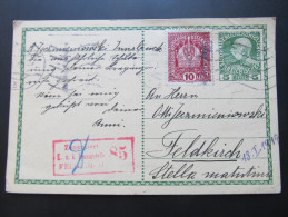 Postkarte FELDPOST INNSBRUCK FELDKIRCH 1917  //  D*15643 - Briefe U. Dokumente