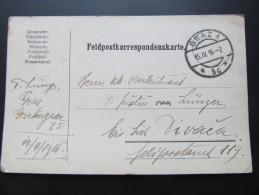 Postkarte FELDPOST GRAZ - Divaca 1916 //  D*15652 - 1850-1918 Imperium