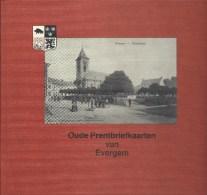 Oude Prentbriefkaarten van Evergem ed. 1982 Guido Wolfaert Druk. Van Der Meulen