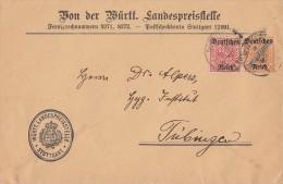 DR Brief Mif Minr.58,61 Stuttgart - Dienstpost