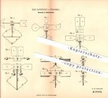 Original Patent - Max Dannhorn In Nürnberg , 1885 , Neuerung An Musikkreiseln , Musik , Spielzeug !!! - Antikspielzeug